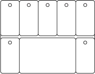 PC53 - Card and seven Key Tags