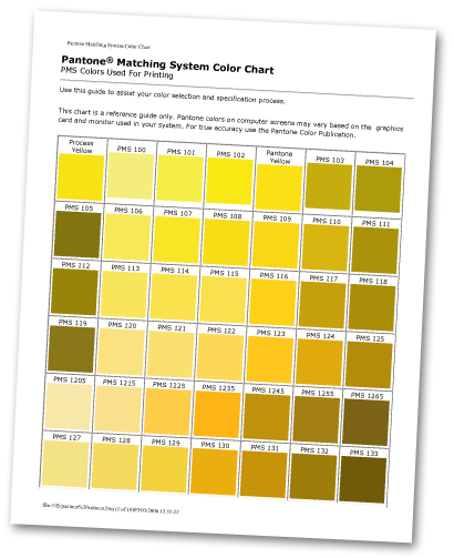 While Printed Color Will Vary From On Screen This Chart Give You A Start