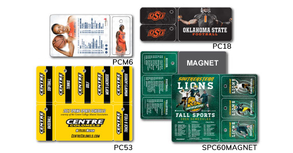 PermaCard Sports Promotional schedule key tags